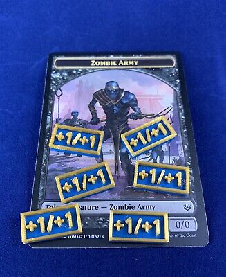 Zombie Army / Lazotep +1/+1 Counters (20 - Custom 3D Printed) for Magic MTG (Zombie 1)