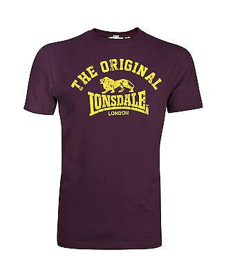 """Lonsdale- T-Shirt """"Original"""" rot. M-XXL. Boxen. Kickboxen. Thai. Lifestyle."""