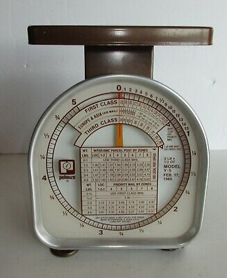 Vintage Pelouze Postal Scale 5 Lb X 12 Oz Model Y-5 1985 Made In Usa