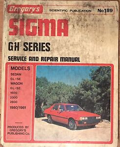 Mitsubishi Sigma GH Gregory's Workshop Manual Berwick Casey Area Preview