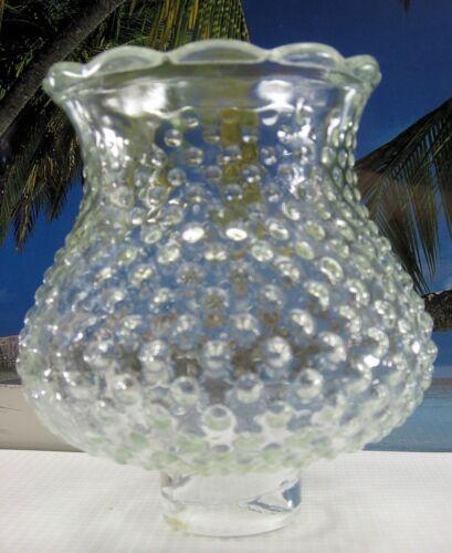 OLD SHORT HOBNAIL CLEAR GLASS CHIMNEY FOR OIL KEROSENE OR ELECTRIC LAMPS