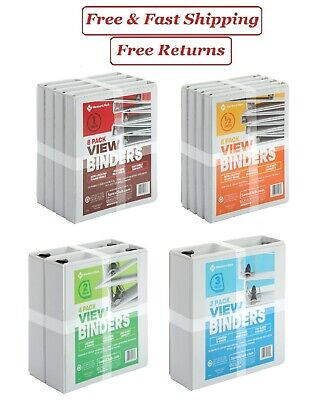 112 2 3 White View Binders Round O Ring D Ring 2 4 Or 8 Pack