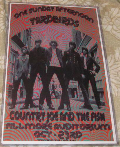 THE YARDBIRDS/JEFF BECK 1966 FILLMORE REPLICA CONCERT POSTER