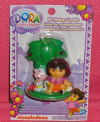 Dora the Explorer/Boots Birthday Cake Candle,Wilton,Multi-Color,Decoration - Dora Cakes