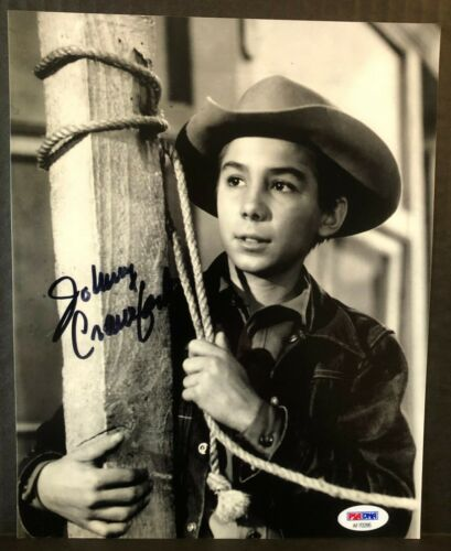 "JOHNNY CRAWFORD  ""THE RIFLEMAN""  SIGNED 8x10 PHOTO #2  AUTHENTIC PSA DNA REPRINT"