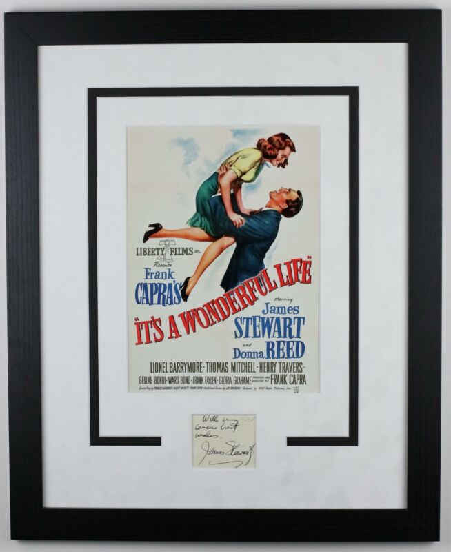 "Jimmy Stewart ""It's A Wonderful Life"" AUTOGRAPH Signed Framed 16x20 Display ACOA"