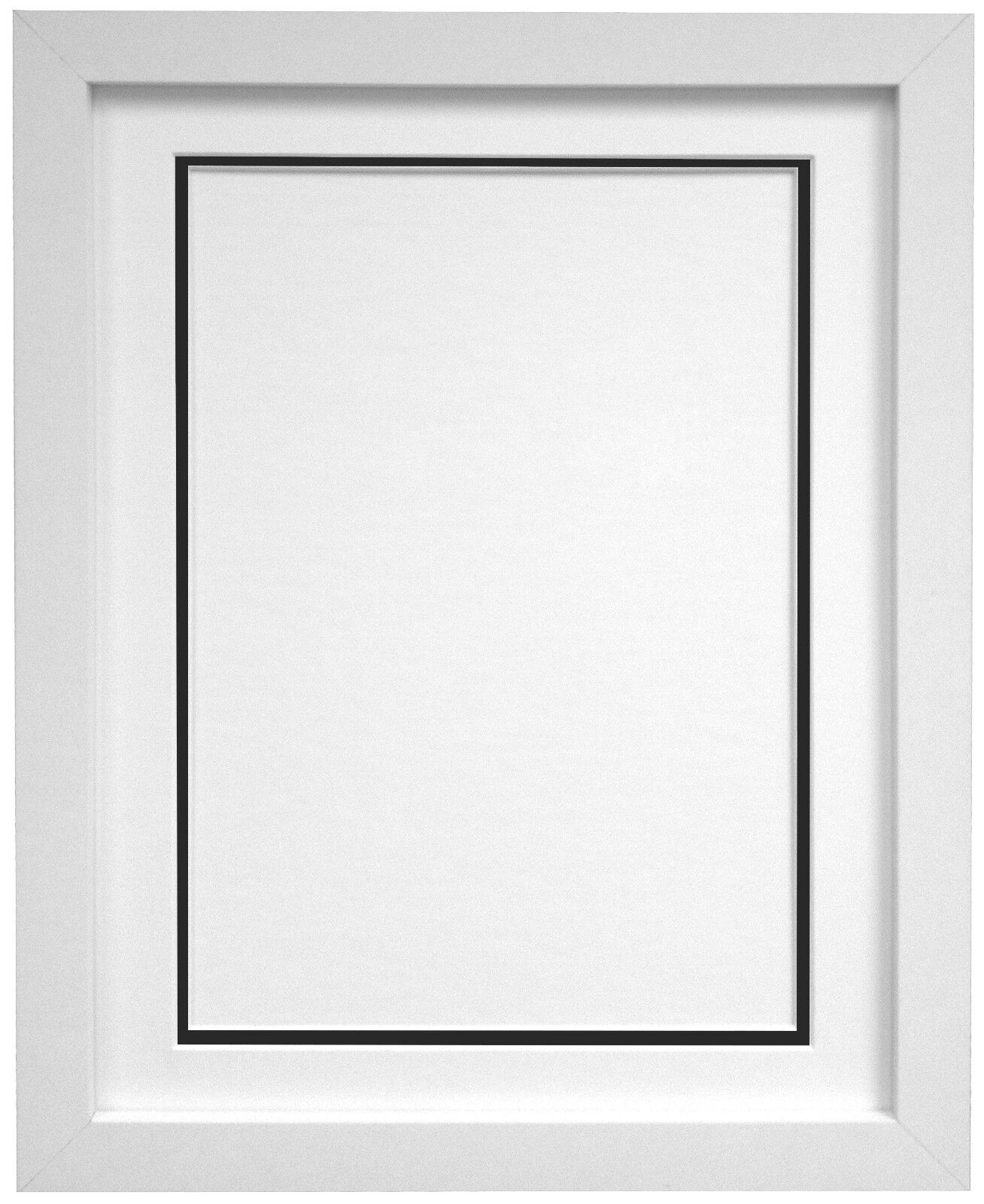 White photo picture frames with black and ivory