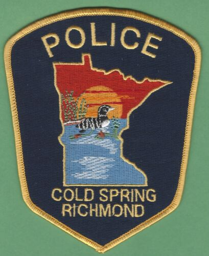 COLD SPRING RICHMOND MINNESOTA POLICE SHOULDER PATCH