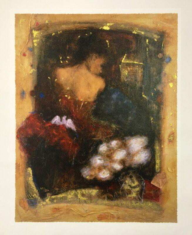 "Janet Treby ""parisienne Twilight"" 2006 | Signed Canvas | 20x16"" | Coa | Gallart"