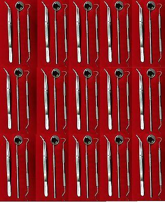New 48 Instruments Basic Dental Set Mirror Explorer College Plier -german Grade