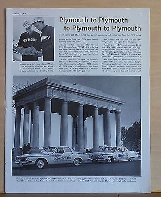 1962 magazine ad for Plymouth - Teenagers on Economy Run get 21.85 mpg