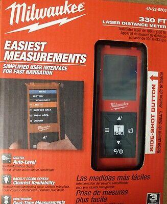New Milwaukee 48-22-9803 330 Laser Distance Meter 330 Ft