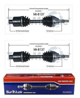 For Dodge Ram 1500 4WD 2002-2005 Pair of Front CV Axle Shafts SurTrack Set