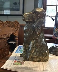 Antique Brass Dog Door stop