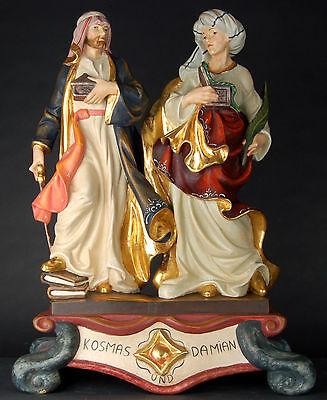 St. Cosmas and Damian, Kosmas & Damian Skulptur Holz/ woodcarving Heilige
