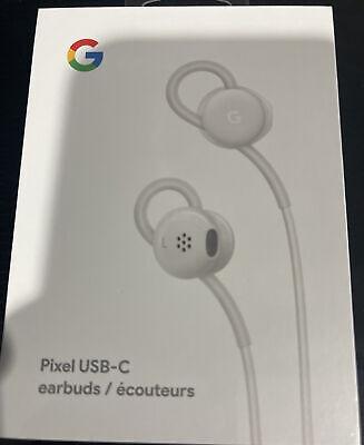 Genuine OEM Google Pixel USB-C Type C Wired Digital Earbud Headset White