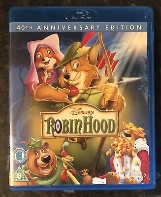 ROBIN HOOD DISNEY BLURAY (40TH ANNIVERSARY EDITION) AS GOOD AS NEW MINT
