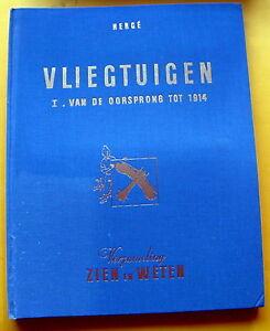 TINTIN-KUIFJE-HERGE-ZIEN-EN-WETEN-VLIEGTUIGEN-VAN-DE-OORSPRONG-TOT-1914-TTBE