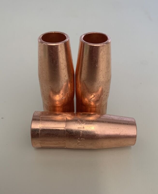 """3-pk MIG Welding Gun Nozzle 21-50 1/2"""" for Lincoln 100L Tweco Mini/1 US Seller"""