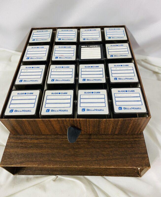 Bell & Howell slide cube photography slide storage 35mm film transparencies