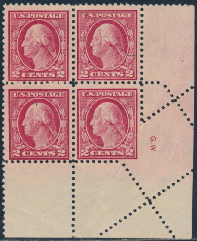 "#499 Var. ""washington"" Block Of 4 Foldover Error Bs9571"