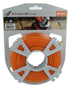 Genuine STIHL 2.4mm x 43 Metres Square Nylon Strimmer Line Cord 0000 930 2640