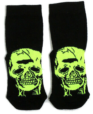 Jungen / Mädchen Spooky Schädel-Halloween-Socken Britische Grösse 9-12 - Halloween-socken