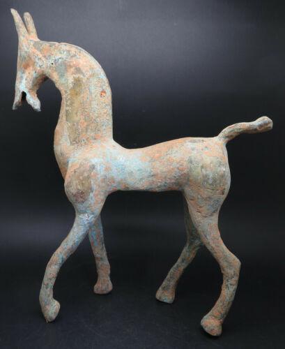 Ancient Celtic Gilted Bronze Horse Figurine Statue Rare