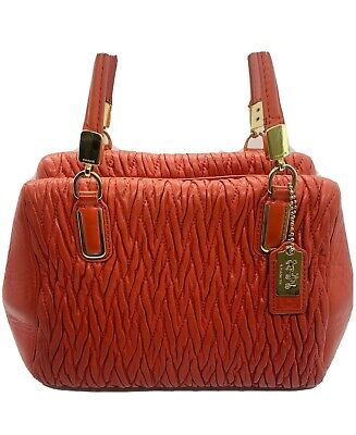 COACH Handbag 👜Purse Soft Lamb Leather With Shoulder Strap Stylish Bright Color