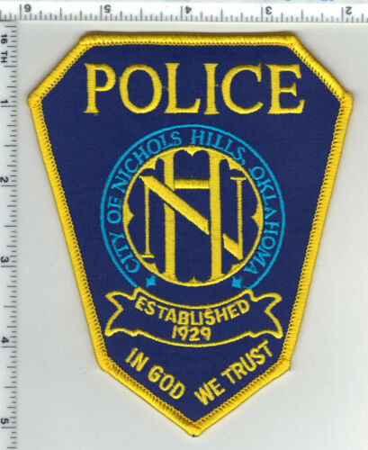 Nichols Hills Police (Oklahoma) Shoulder Patch from the 1980