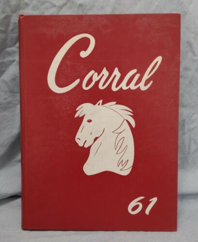 """1961 """"Corral"""" Yearbook of Odessa High School Odessa Texas Very Good Condition"""