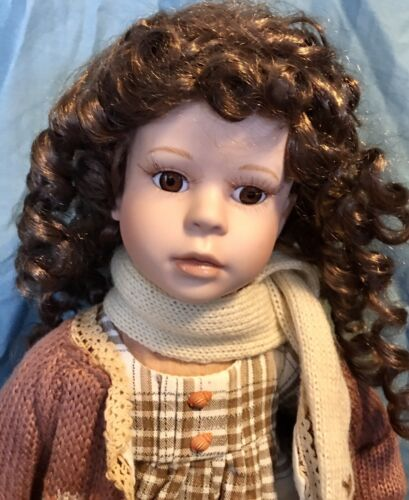 Porcelain Doll Collectible 16 Inc Tall - $6.05