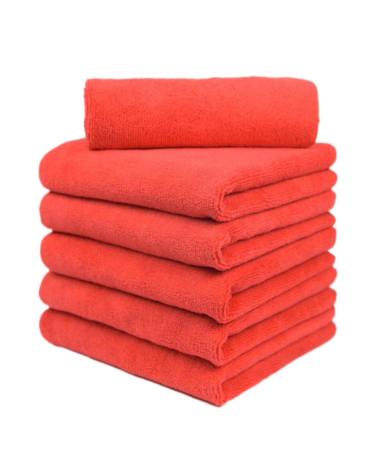 6 pcs microfiber towel auto household clean polish wash cloths 16 x16 red new for sale in. Black Bedroom Furniture Sets. Home Design Ideas