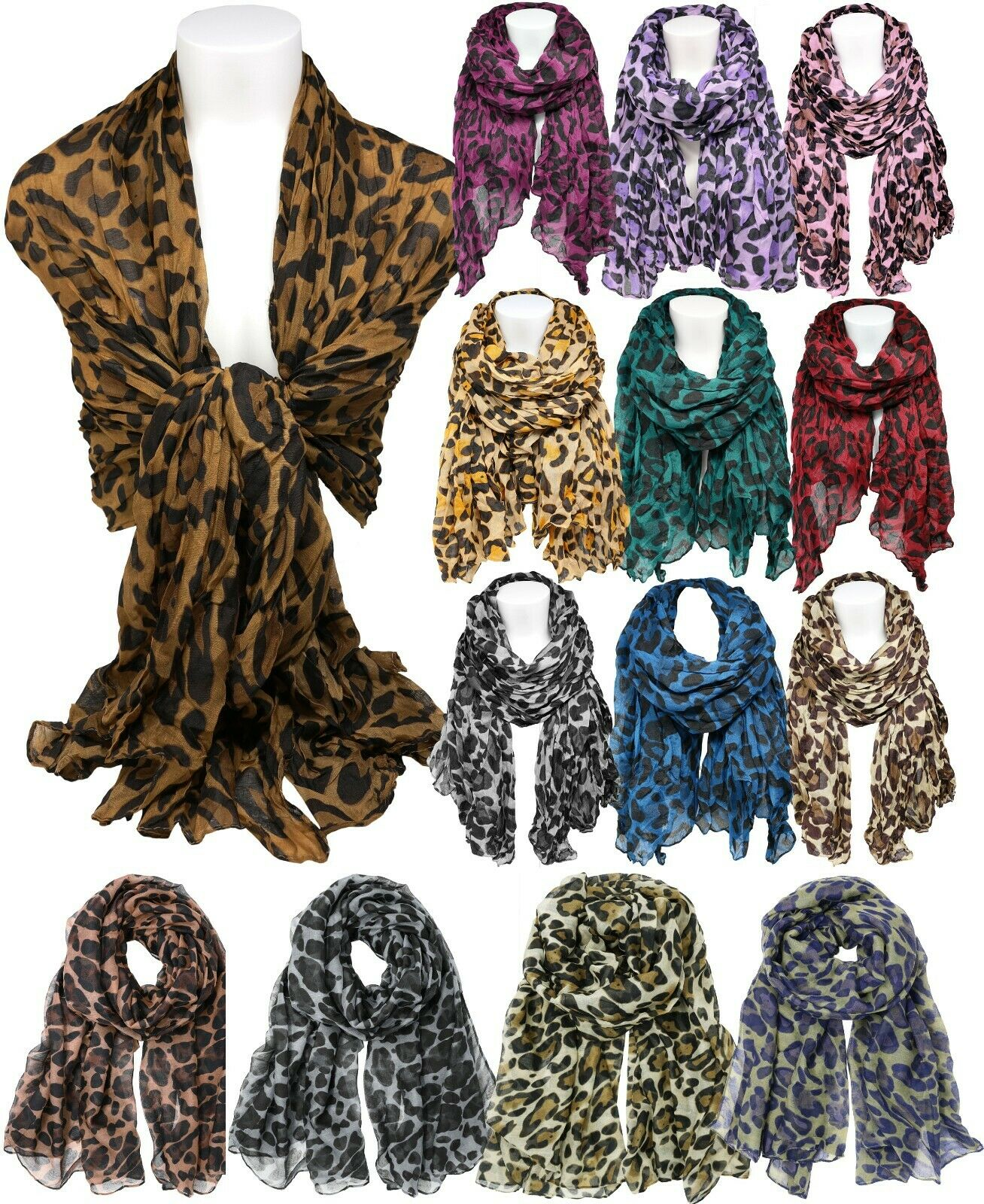 Classic Leopard Print Scarf Clothing, Shoes & Accessories