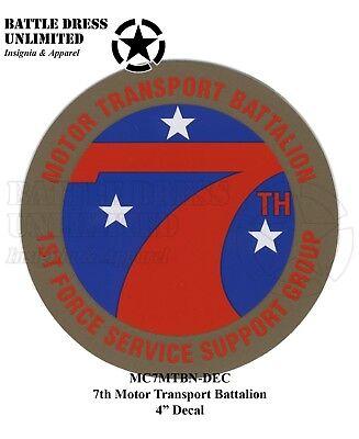 7th Motor Transport Battalion, Marines insignia decal/sticker (USMC Motors T)