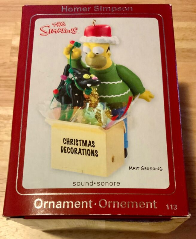 THE SIMPSONS HOMER CHRISTMAS DECORATIONS ORNAMENT SOUND 2008 new