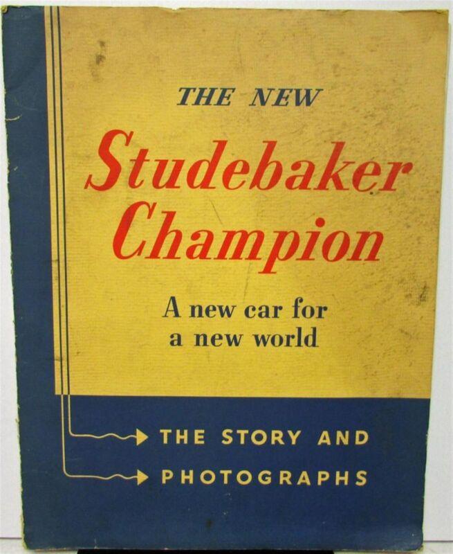 1939 Studebaker Champion Press Release Info & Dealer Order Coding Sheet Original