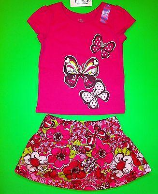 NEW! BUTTERFLY Baby Girls Shirt Skort Skirt 2 pc Set 4T Gift Pictures $25