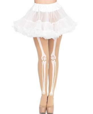 New Leg Avenue 7733 Nude Skeleton Bone Tights Pantyhose - Skeleton Leg Tights