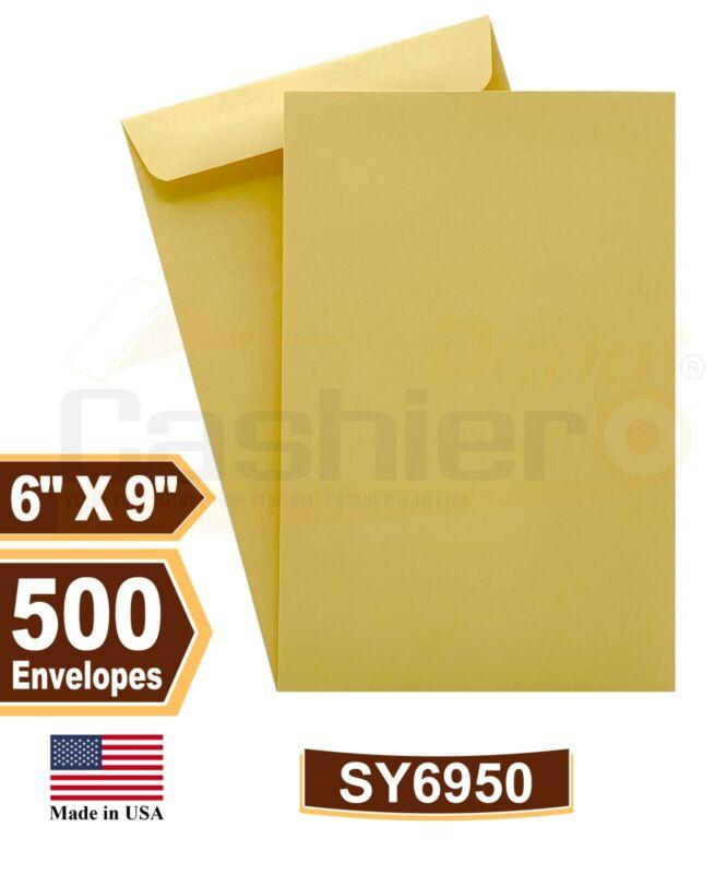 "Cashier Depot 6"" x 9"" Premium Catalog (Open End) Envelope, Brown Kraft, 500/Box"