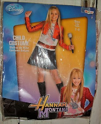Hannah Montana Denim Dress Red Jacket Child Costume 7-8 Halloween Disney