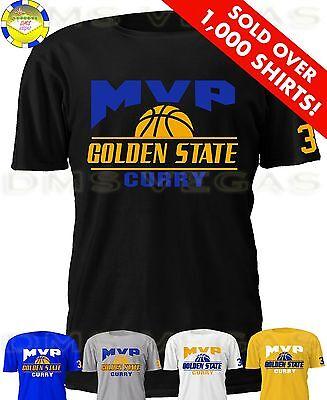 Golden State Warriors Stephen Curry Mvp Jersey T Shirt Men S Xl