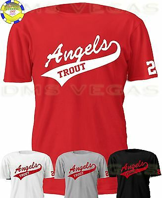 Anaheim Angels Mike Trout Jersey T Shirt Men Size S Xl