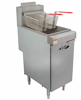 Commercial 40lb 3 Tube Floor Gas Deep Fryer 90000btuhr Nat Gas - Jet Jff3-40n