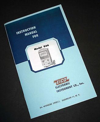 Eico Model 944 Flyby Transformer And Yoke Tester Instruction Manual