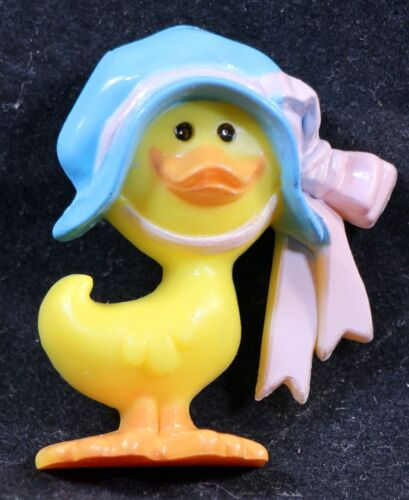 Vintage Hallmark Easter Chick Duck Plastic Lapel Pin New/Old Stock