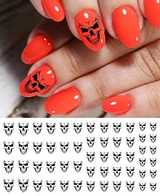 Evil Skull Nail Art Waterslide Decals - Salon Quality! Great for Halloween!