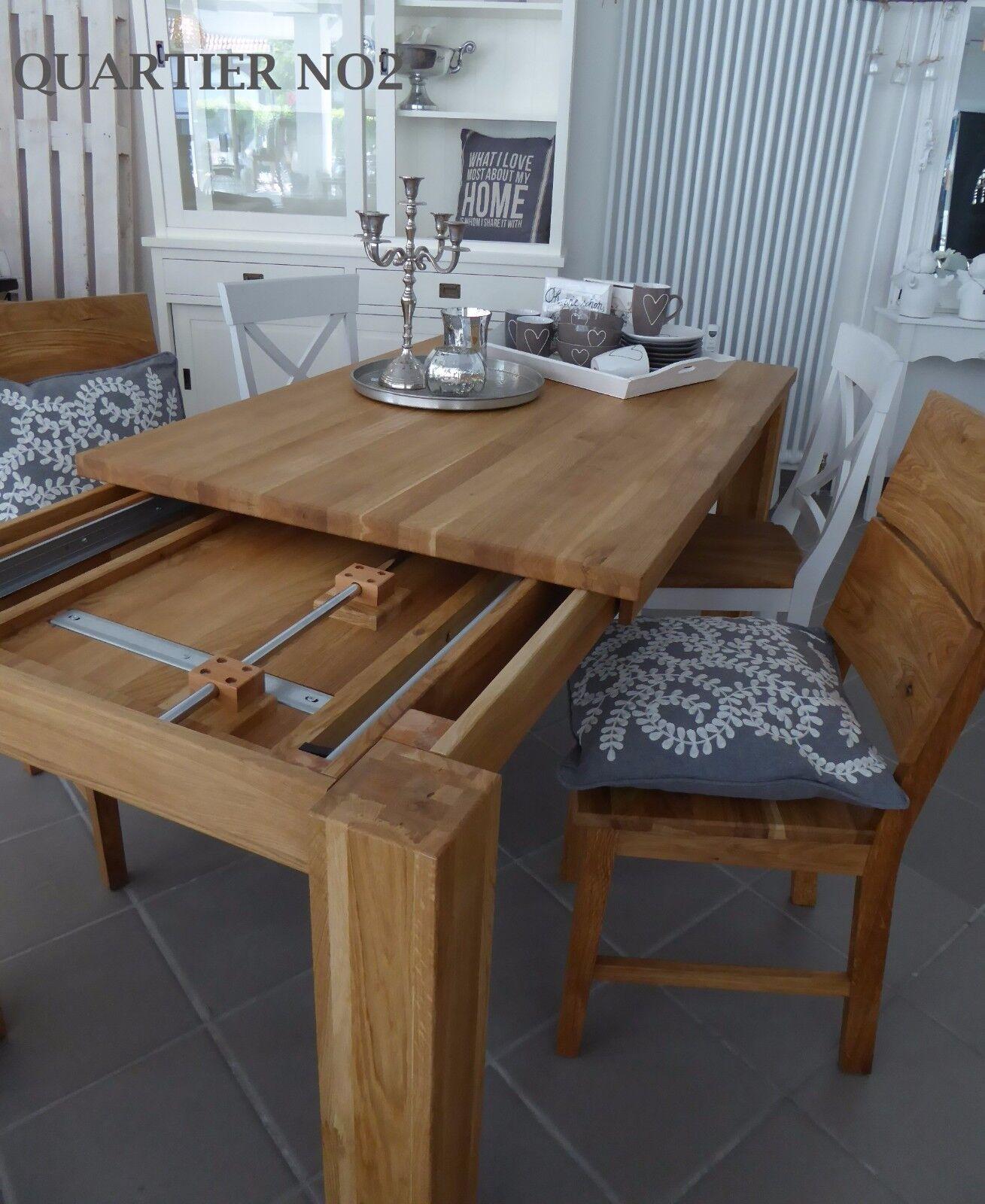 Gestellauszugstisch,Esstisch Tisch mit Gestellauszug,Massivholz Tisch ausziehbar
