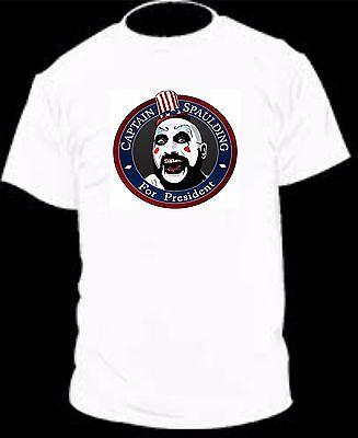 CAPTAIN SPAULDING FOR PRESIDENT FUNNY VINTAGE COLLEGE MENS TEE - Captain Spaulding Shirt