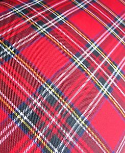RED TARTAN FABRIC MATERIAL BY THE METRE 59